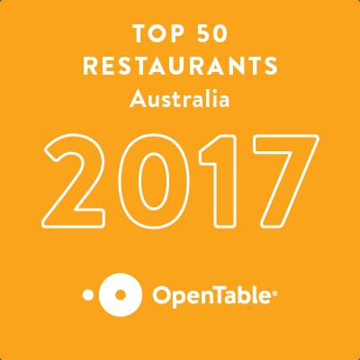 The Tinamba Hotel takes Australia Top 50 on OpenTable