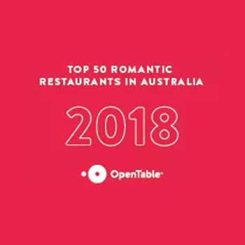 Tinamba is named one of the top 50 most romantic restaurants in Australia.