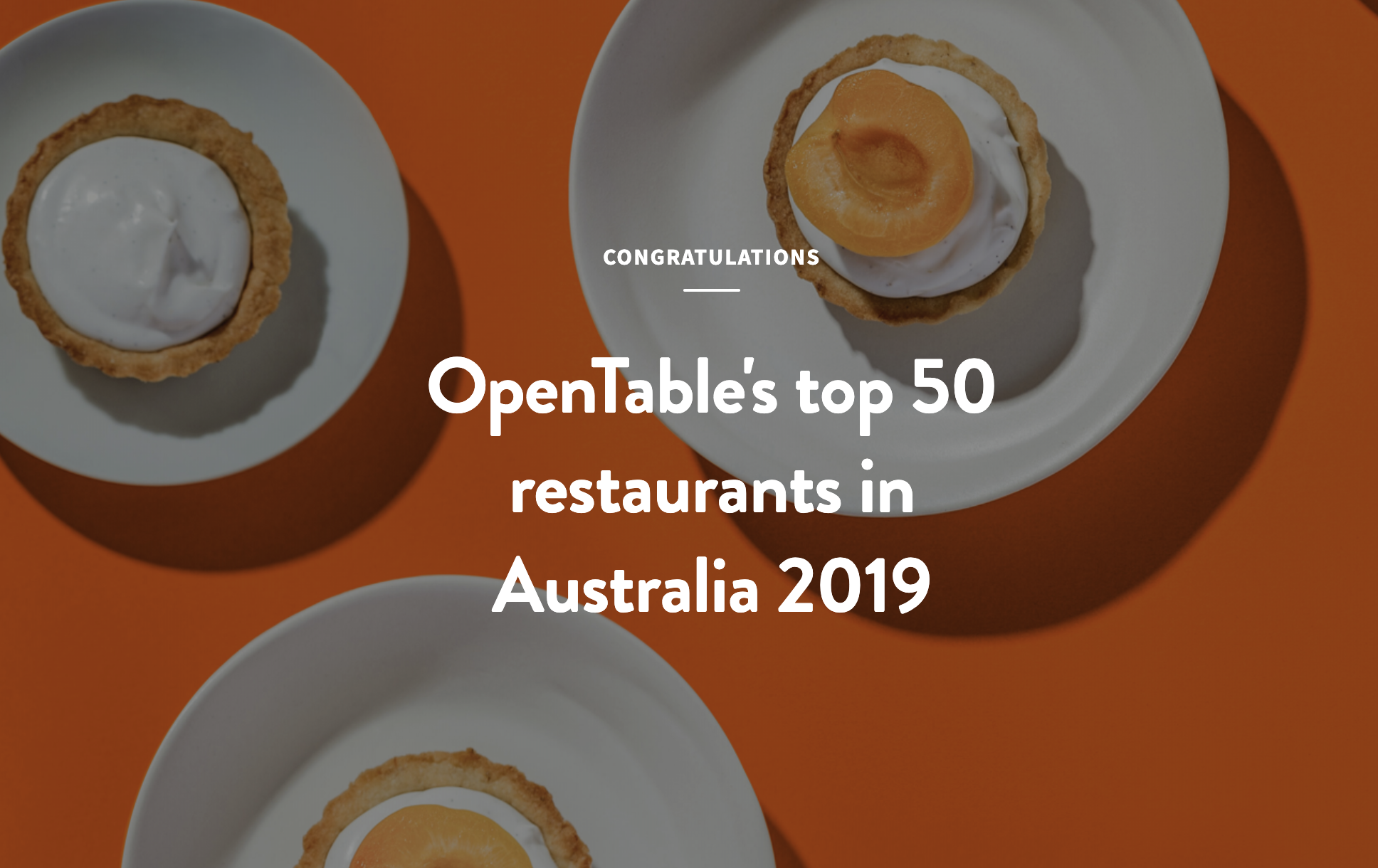 Tinamba Hotel named one of the top 50 restaurants in Australia for 2019!